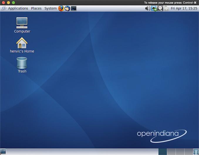 OpenIndiana screenshot