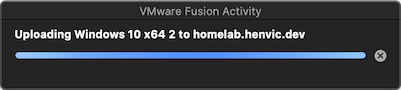Uploading VM screenshot